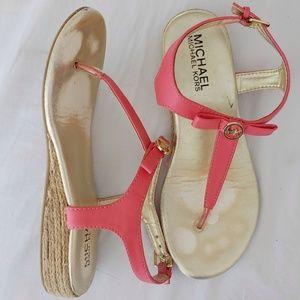 Michael Kors Girls Thong Sandal with Bow